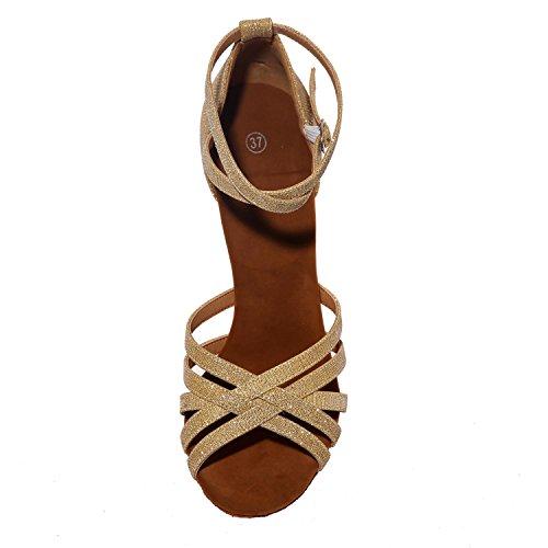 L@YC Zapatos De Baile Latino De Las Mujeres Sandalias De Punta abierta MáS Colores Pueden Ser Personalizados / Multicolor White