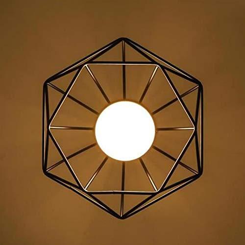 XZANTE 2Pcs Plafonnier Industrielle Cage Forme Diamant Noir Lustre Suspension En M/étal Fer Luminaire Pour Cuisine Couloir