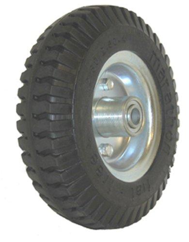 "Marathon 2.80/2.50-4"" Narrow Width Flat Free Hand Truck/Utility Cart Tire on Wheel, 3""Centered Hub, 1/2"" Bearings"