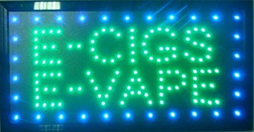 CHENXI Led Neon E-Cigs E-Vape Open Store Signs Vape E-liquid Smoke Business Store Open Sign Board Indoor (48 X 25 CM, E-CIGS E-VAPE)