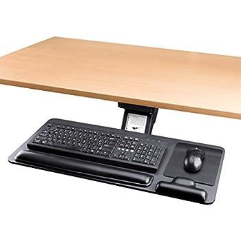 Adjustable Keyboard Tray Ergonomic Design Standard Underdesk Platform Large  Space Slides Track Cartmay