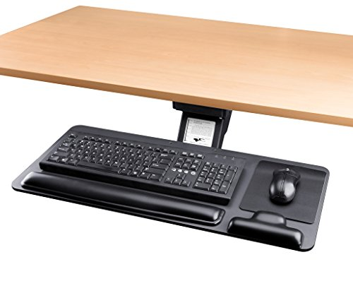 Adjustable Keyboard Tray Ergonomic Design Standard Underdesk Platform Large Space Track Cartmay by Cartmay