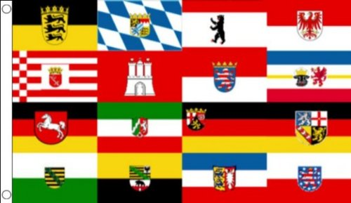 16 GERMAN FEDERAL STATES FLAG 3' x 5' - 16 STATES OF GERMANY