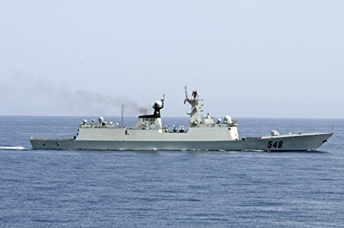 The Chinese People's Liberation Army (Navy) frigate Yi Yang (FF 548) transits the Gulf of Aden prio (Peoples Jeans Liberation)
