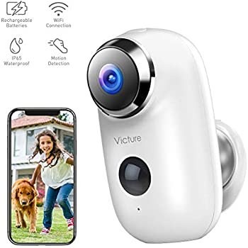 4g-w4_Amazon.com : Victure 1080P Outdoor Security Camera Home Wireless Rechargeable Battery ...