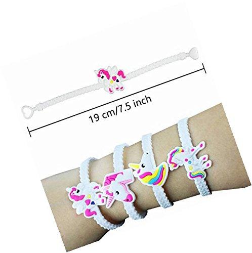 Nikkycozie Emoji Identification party unicorn wristband bracelets, rainbow unicorn birthday favors supplies by Nikkycozie (Image #1)