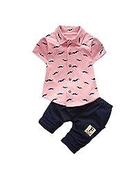 Newborn Baby Clothing Sets Beard T Shirt Tops+Shorts Pants Outfit Clothes Set
