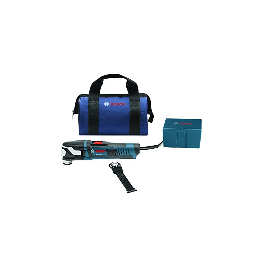 Bosch GOP55 36B StarlockMax Oscillating Multi Tool Kit with Snap In Blade Attachment