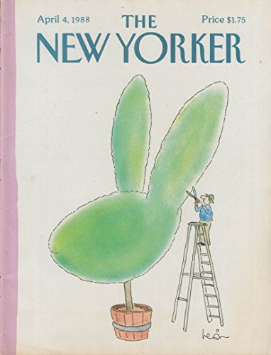 New Yorker cover Levin 4/4/1988 Rabbit head topiary trimmed