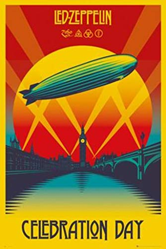 Rock Small Poster - POSTER STOP ONLINE Led Zeppelin - Music Poster/Print (Celebration Day) (Size: 24
