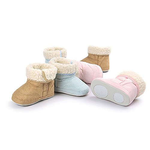 Soft Winter Boots LAROK Mid Toddler Calf Prewalker Blue Premium Baby Bow Slip Infant Anti Warm Sole Snow vBBZqw