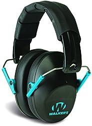 Walkers Game Ear GWP-FPM1-BKTL Walker's Passive Low Profile Folding Muff- Black/