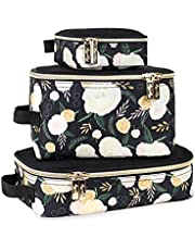 Chelsea + Cole for Itzy Ritzy Packing Cubes – Set of 3 Camo Packing Cubes or Travel Organizers; Each Cube Features a Mesh Top, Double Zippers and a Fabric Handle