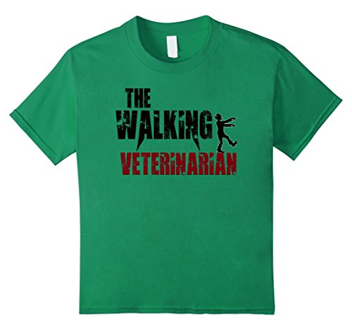 Child Veterinarian Costume Ideas (Kids Veterinarian gifts t shirts, vet tech animal pets zombie tee 12 Kelly Green)