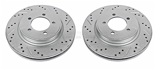 Power Stop AR82112XPR Front Evolution Drilled & Slotted Rotor (Sport Trac Power Slot Rotors)