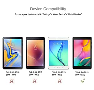(3 Pack) Supershieldz for Samsung Galaxy Tab A 8.0 (2019) (SM-T290 Model only) Screen Protector, 0.13mm, Anti Glare and Anti Fingerprint (Matte) Shield