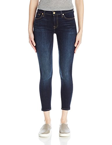 7 For All Mankind Women's Ankle Skinny Jean, Dark Moonlight Bay, 25