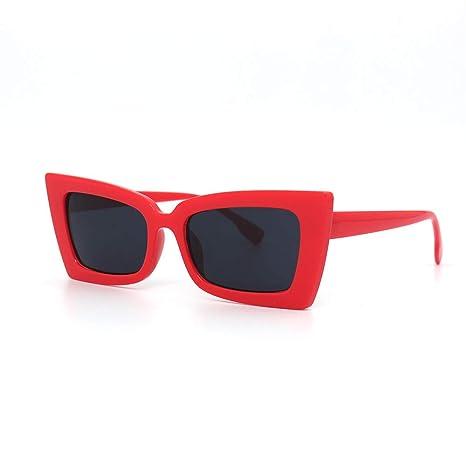 Yangjing-hl Gafas de Sol de Mujer Marea Color película Cara ...