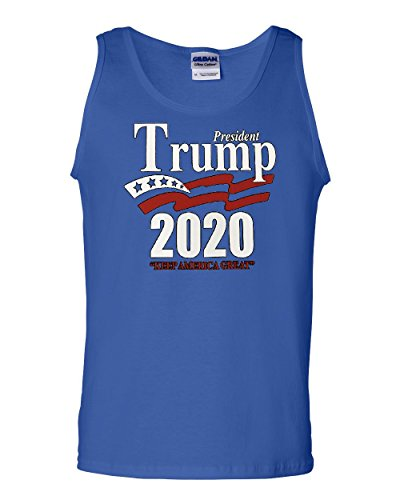 Tee Hunt Keep America Great Tank Top President Trump 2020 MAGA Republican Sleeveless Blue S