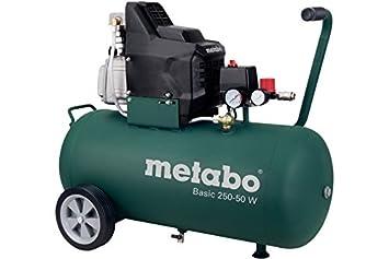 Metabo Basic 250-50 W - Compresor 2 CV 50 litros: Amazon.es: Bricolaje y herramientas