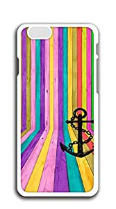 Custom Cover Case with Hard Shell Protection iphone 6plus cases for girls designs - Anchors jagged color