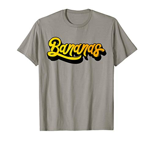 Bananas Quote Typographical Background Tee shirt]()