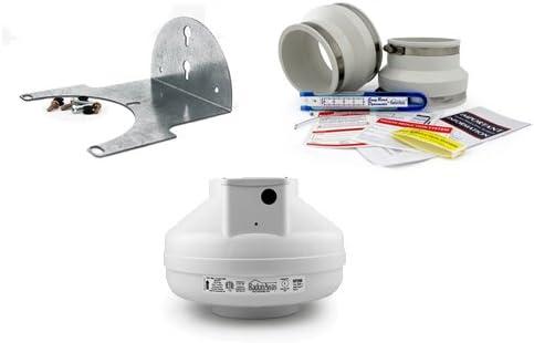 RadonAway RP260 Mail order High material Radon Fan + 4x6 Kit White Installation Mountin