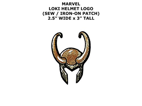 Loki Costume Diy (Marvel Comics Loki Super Hero DIY Embroidered Sew or Iron-on Applique Patch Outlander Gear)