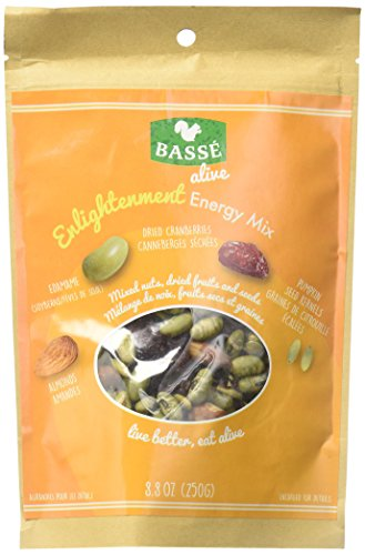 Enlightenment Energy Trail Mix from Basse Alive, 12 Pack of 8.8oz Trail Mix Bags of Energy Mix Superfoods, Mixed Nuts & Craisins, with Edemame Soybeans, Cranberries, Pumpkin Seeds & Almonds (12 Pack) -