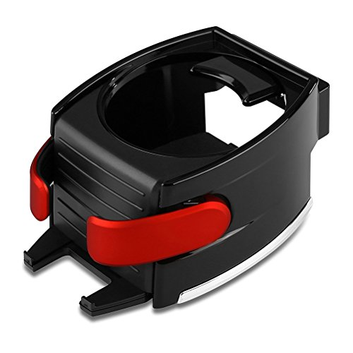 VORCOOL Car Cup Holder Adjustable 2 in 1 Car Drink Stand Cell phone Holder Air Vent Mount (Red)