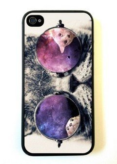 Galaxy Hipster Cat iPhone 5 Case - For iPhone 5/5G - Designer TPU Case Verizon AT&T Sprint