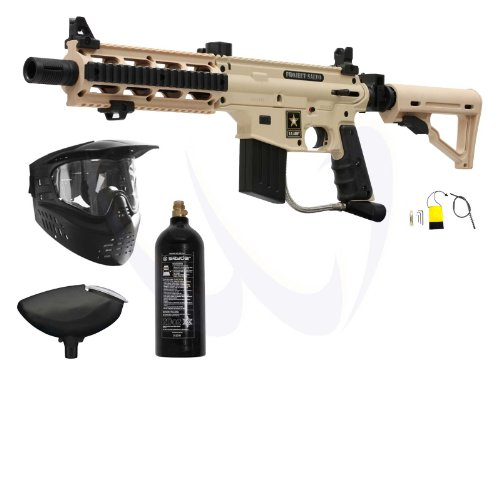(Tippmann US Army Project Salvo Paintball Gun Basic Package - Tan)