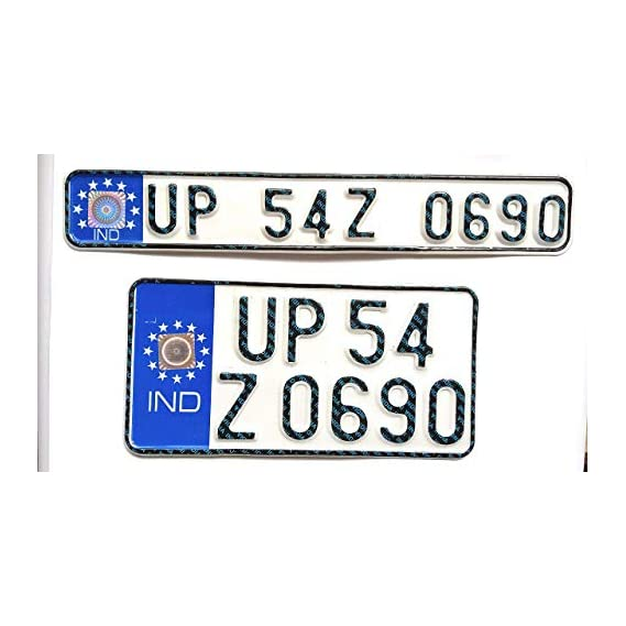 Generic Bike Licensed Ind Number Plate Front And Back