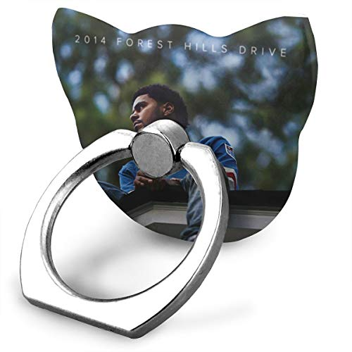 EdithL J Cole 2014 Forest Hills Drive Phone Ring Stand Holder Finger Grip Stand, Car Mount 360 Degree Rotation Universal Phone Ring Holder Kickstand for iPhone/iPad/Samsung ()