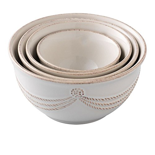 Juliska Berry and Thread Nesting Prep Bowl Set of 4 Whitewash