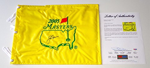 Jack Nicklaus Signed 2005 Masters Pin Flag Psa Loa T05857 (2005 Masters Flag)