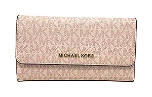 9ee1b06c4f0d ... Michael Kors Jet Set Travel Large Trifold Signature PVC Wallet (. upc  192877002451 product image1