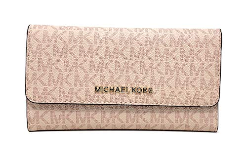 Michael Kors Jet Set Travel Large Trifold Signature PVC Wallet (Fawn/Ballet) by Michael Kors (Image #4)