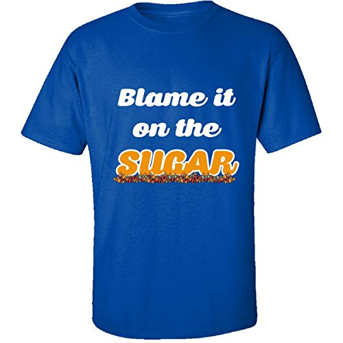 (Funny Halloween Costume Blame It On The Sugar Kids Adults - Adult Shirt L)
