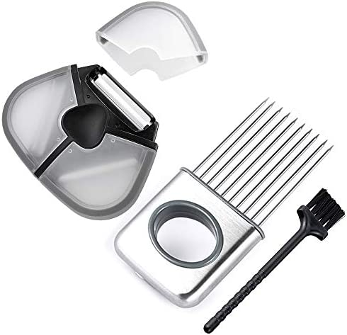 High Quality Stainless Steel Onion Slicer Vegetable Holder Cutter Kitchen Tools