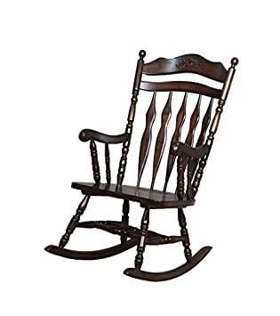wooden rocking chair. coaster wooden rocking chair in dark walnut finish w