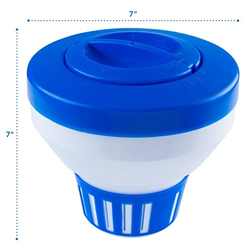 Floating Chlorine Dispenser 3 Tablet Pool Chemical Feeder Tank Bromine Floater 744110981582 Ebay