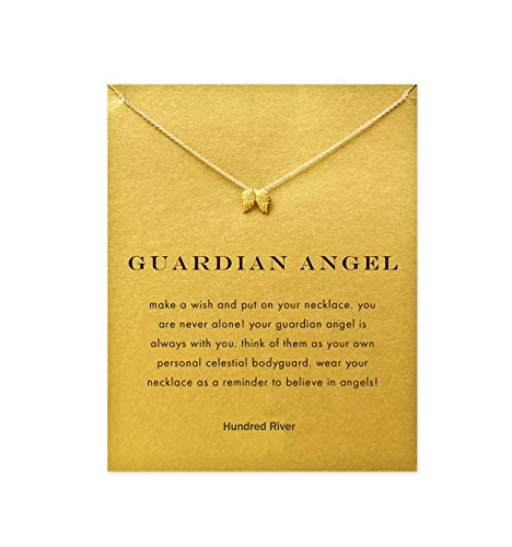 Hundred River Angle Wing Necklace with Message Card Gift Card (Angle Wing)]()