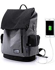Wind Took 15.6 Zoll Laptop Rucksack Daypack Schulrucksack Notebook Backpack Damen Herren für Uni Arbeit Campus Freizeit, 20L, 30 x 16 x 40cm, Schwarz