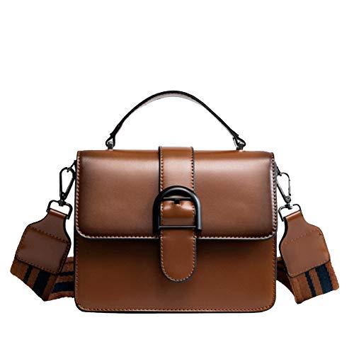 Miss Li Designer Sacs à bandoulière avec pochette carrée marron