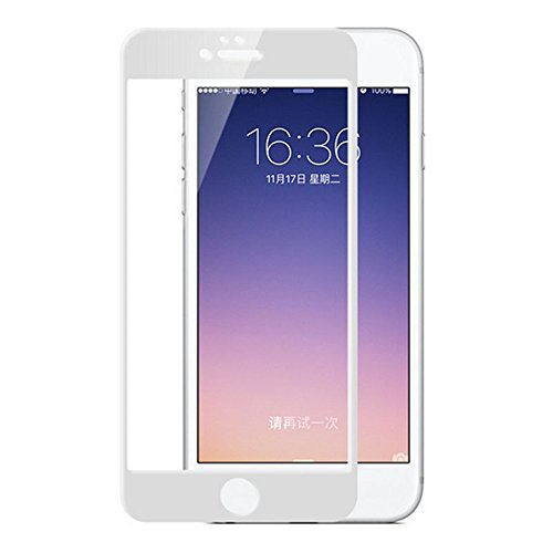 Screen Protectors for iPhone7/8 Tempered Glass 6D 9H Hardness Full Screen Coverage Bubble-Free/Anti-Scratch/High Definition Apple iPhone Screen Protector(1pack) (White) by General (Image #10)