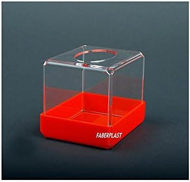 Faberplast Caja, Metacrilato, Transparente y Naranja, 12x10x11 cm ...