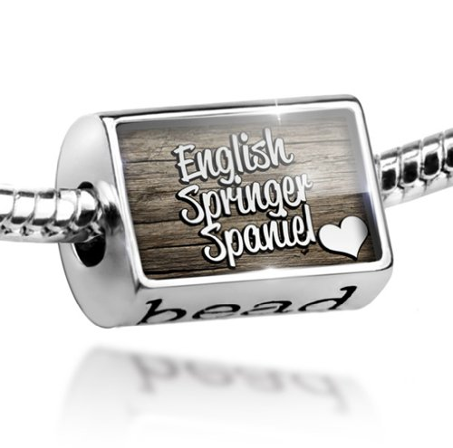 Bead English Springer Spaniel, Dog Breed England - Charm Fit All European - Charm Springer Spaniel
