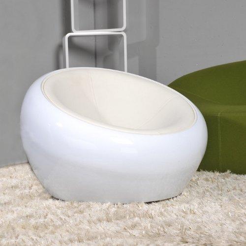 Cagü Design Retro Lounge Sessel Arhus Ball Weiss Drehbar Jetzt