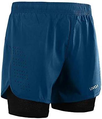 1ショーツメンズ速乾性通気性のアクティブトレーニングスポーツジョギング・マラソンサイクリングフィットネスで2 (Color : Dark Grey, Size : XL)